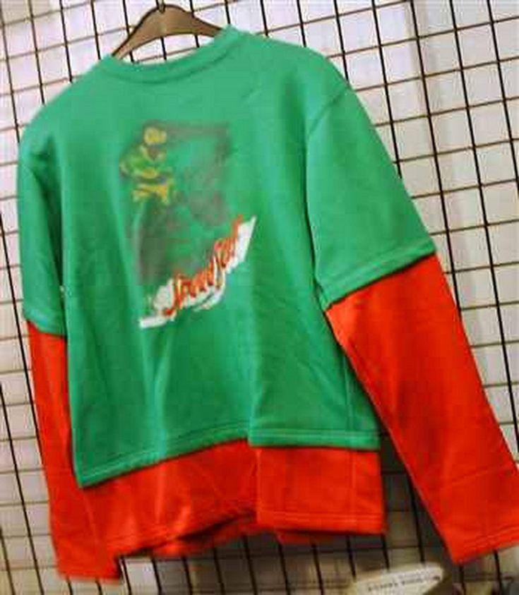 sweatshirt gruen mit rot groesse m 176 16 speed sail double