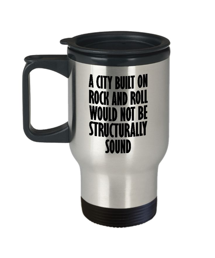 City Built on Rock and Roll Funny Mug Gift for Engineer Band Classic 80s Fan Sarcastic Joke Gag Coffee Cup