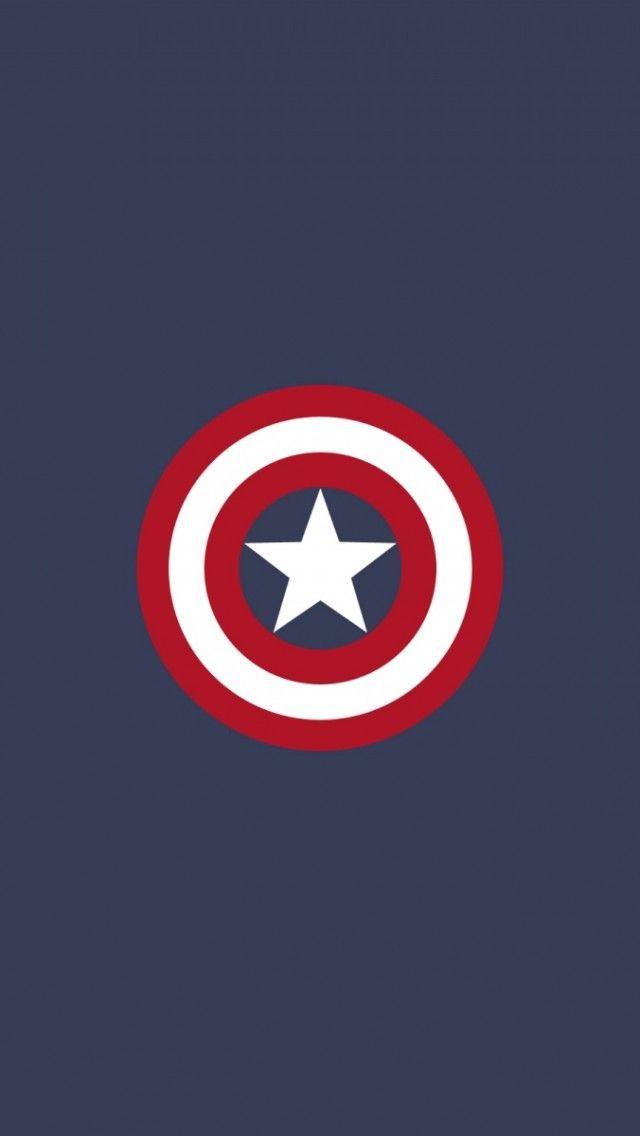 Captain America Flat Logo iPhone 5 Wallpaper / iPod Wallpaper HD - Free Download