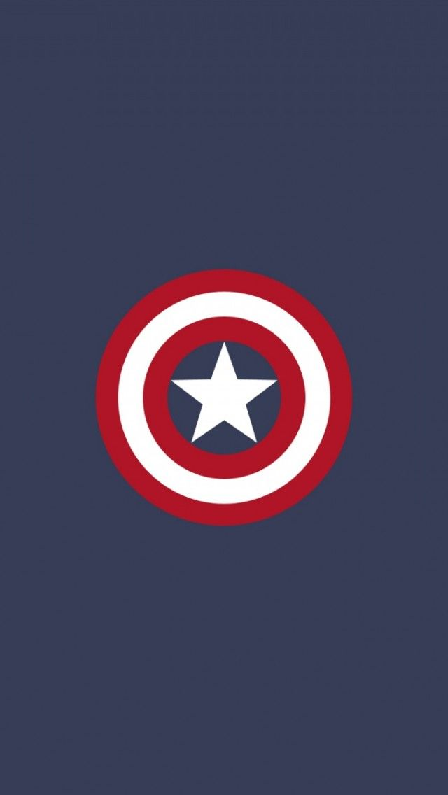 captain america flat logo iphone 5 wallpaper iphone