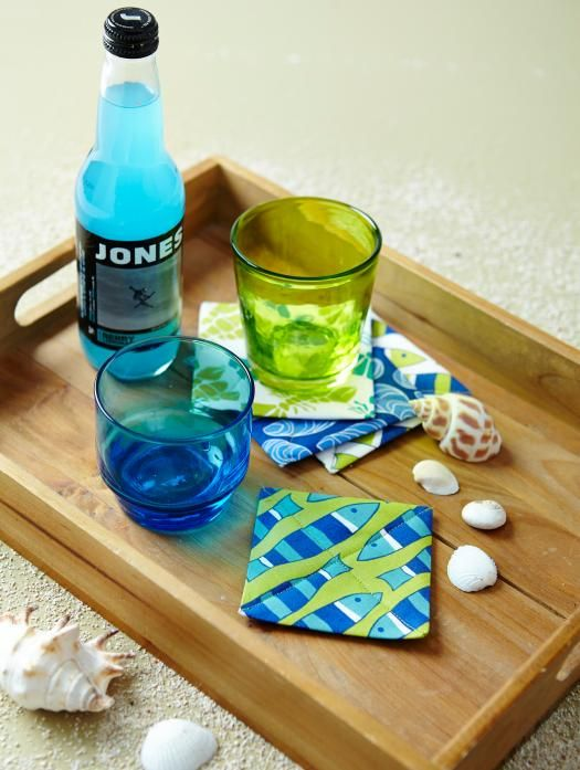 Make this coaster in just a few minutes from one square of fabric!