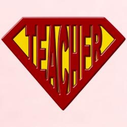 super teacher .... Maybe make one for each student as name tags/ name plates??