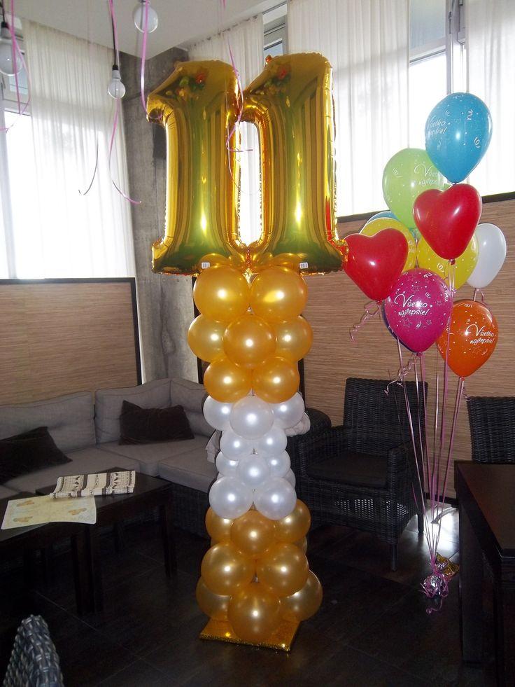 Balónový narodeninový stĺp