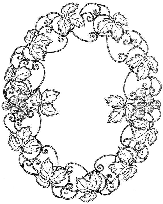 виноградная лоза орнамент - Поиск в Google