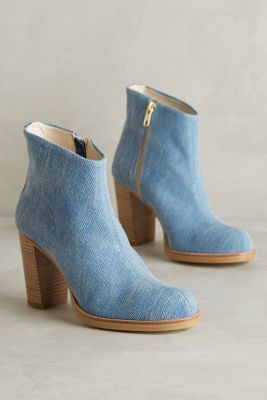 Ras Hana Canvas Booties Neutral Boots #anthrofave