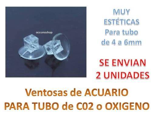 Pack-de-2-VENTOSAS-ACUARIO-ventosa-Tubo-de-Aire-Oxigenador-CO2-bomba-difusores