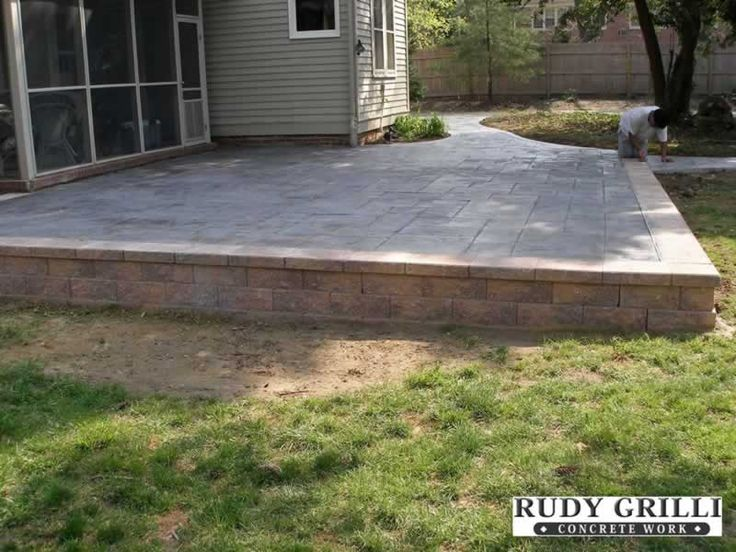 how to build a raised patio deck