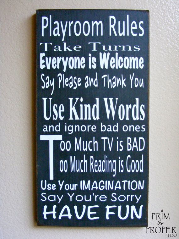 Sign For Game Room