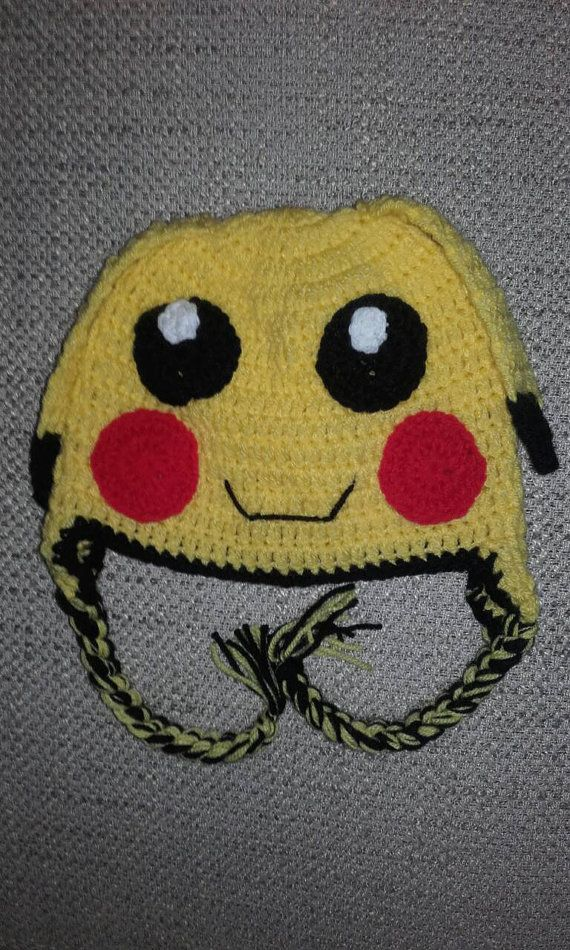 Check out this item in my Etsy shop https://www.etsy.com/uk/listing/466667381/crochet-pikachu-hat-baby-pokemon-hat