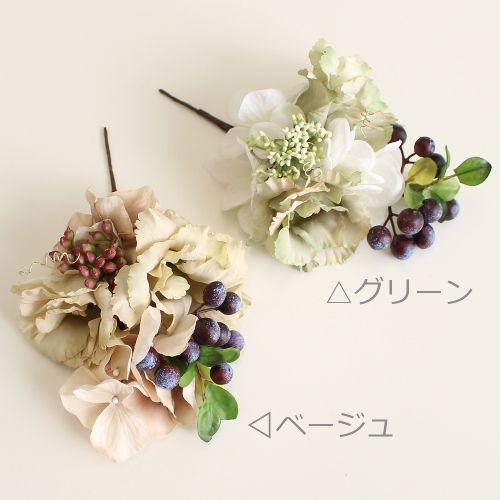 ウェディング ヘッドドレス・花 髪飾りairaka