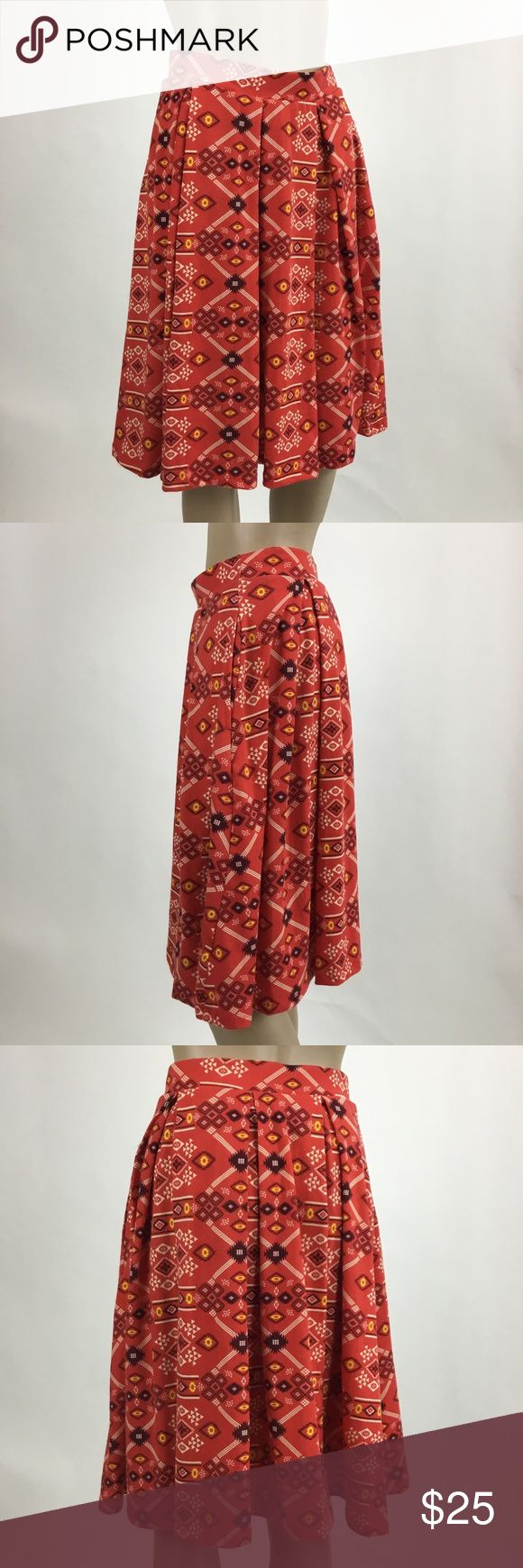 Lularoe Madison Red Bandana Print Full Skirt XS Lularoe Madison Red Bandana Print Full Skirt  Size XS Excellent Condition  Waist Side Seam to Side Seam - 13 inches  Length - 24 inches LuLaRoe Skirts A-Line or Full