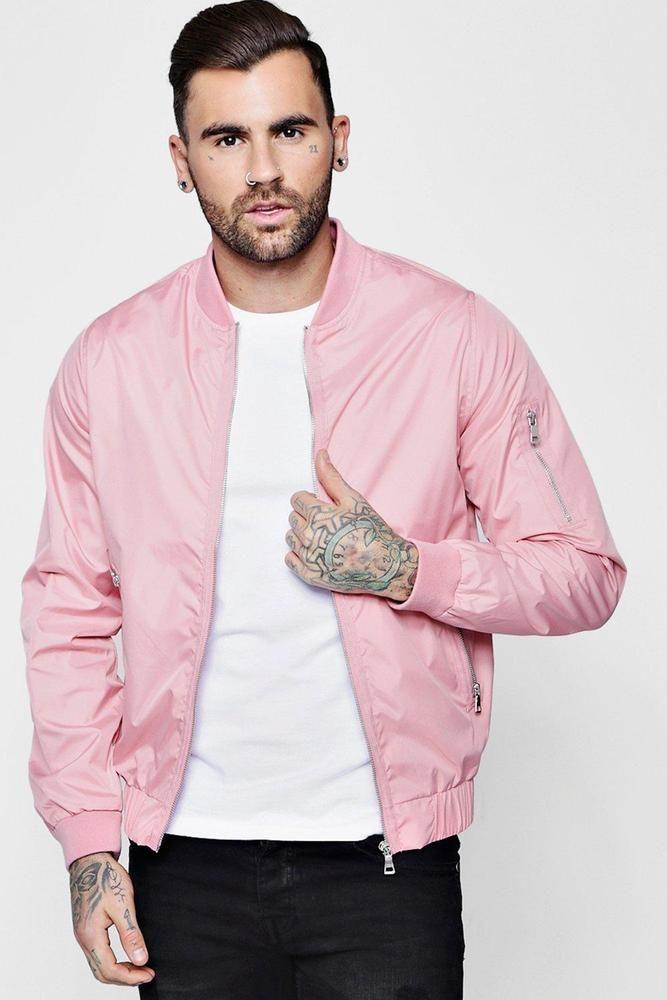 Bomber Jacket Pinterest Zip 24 Boohoo Mens Ma1 Pink 8cHAvq