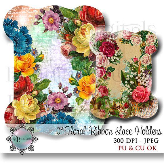 Floral Ribbon Lace Holders  Ribbon Storage  by Beauladigitals https://www.etsy.com/au/listing/262547394/floral-ribbon-lace-holders-ribbon?ref=listing-shop-header-2
