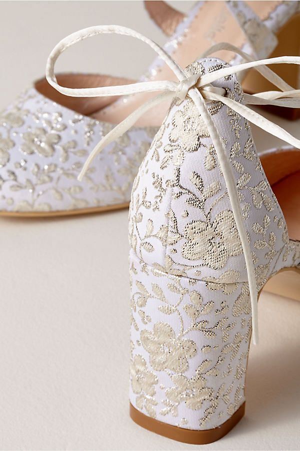 Bella Belle Sadie Block Heels Floral Wedding Shoe Perfect Wedding Shoes Outdoor Wedding Shoes