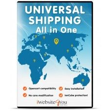 Imagine: You have one module where you can create unlimited shipping options.  Imagine: In the module you can select separated Geo Zone and Tax Class for each created shipping method.  Imagine: You can easily add a logo for each created method and select sort order.  Sounds great, doesn't it?    You don't have to imagine that anymore because it exists!  Universal Shipping All in One do all those for you!  No code modification and extra extensions! One module and life is simple.