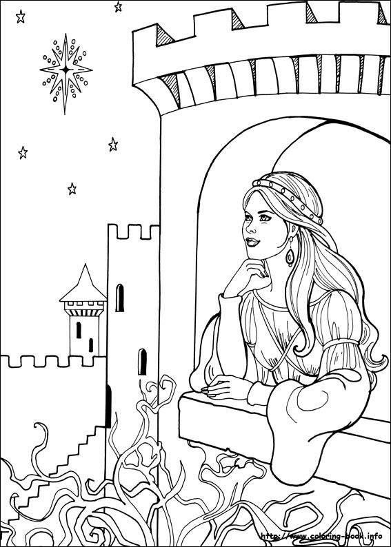 Princess Leonora Coloring Picture