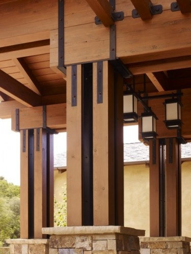 32 best craftsman cabin deck ideas images on pinterest for Exterior decorative columns