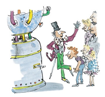 Charlie and the Chocolate Factory.....illustrated by Quentin Blake.