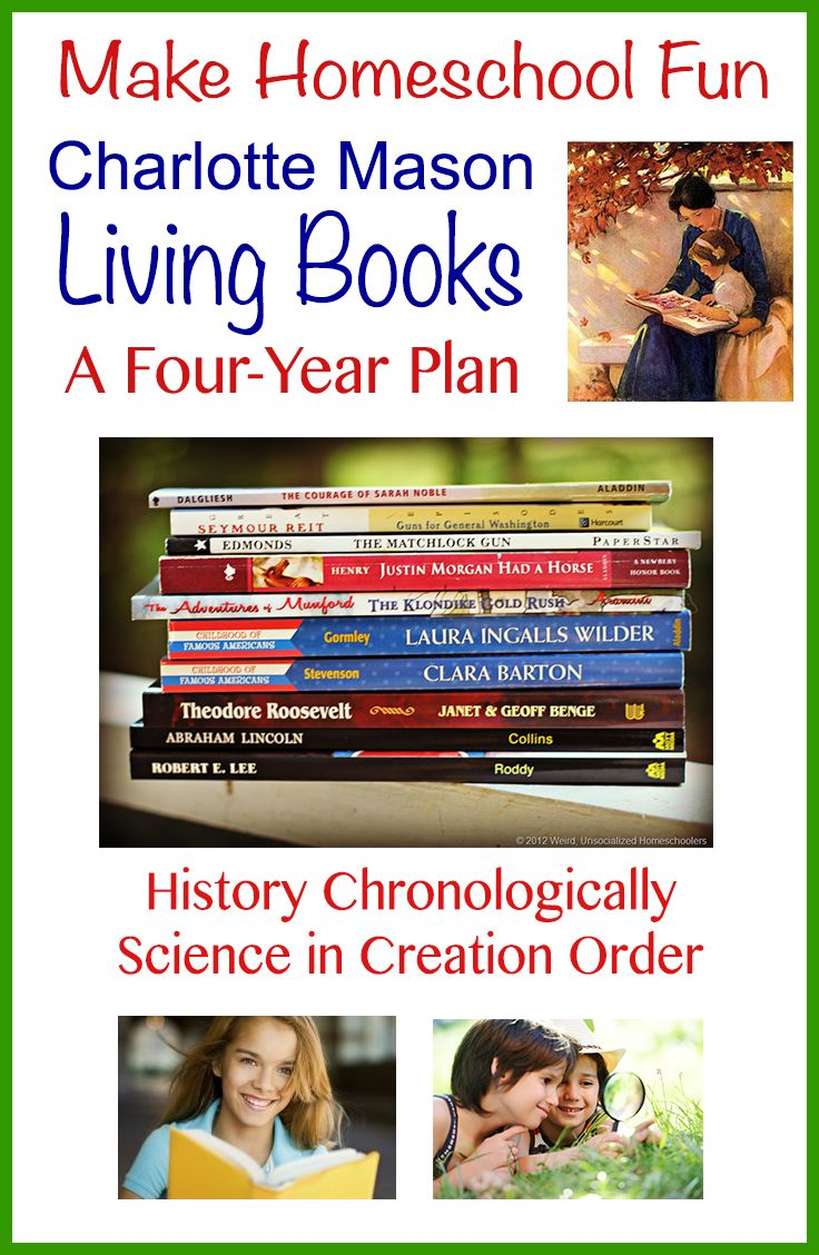 Four-Year Plan Charlotte Mason Living Book Plan