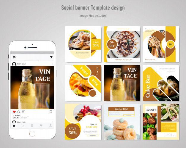 Food Social Media Post Template For Restaurant Food Advertising Food Social Media Template