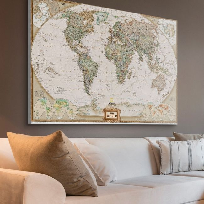 58793d5f84 Map of the world wall art -