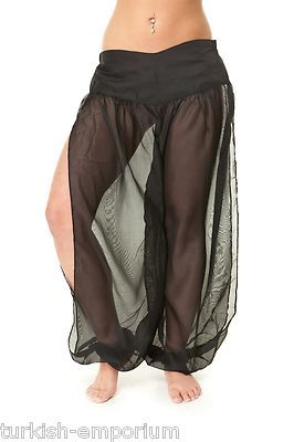 Professional Chiffon Harem Pants for Belly Dancing Dancer Costume Leggings New | eBay