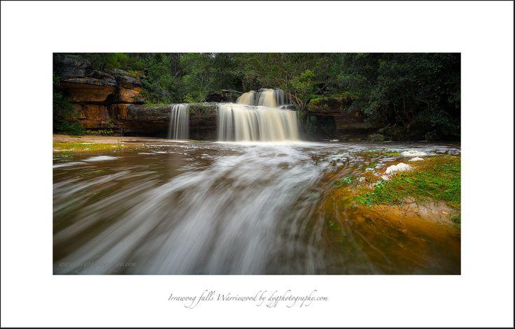 Stunning little falls at Warriewood wetland area Sydney Australia