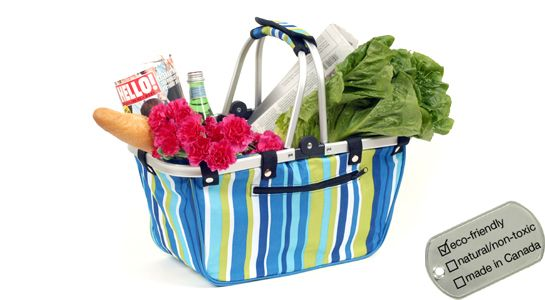 We're so excited our collapsible eco  shopping baskets are back in stock! Five great designs to choose from - www.lavishandlime.com/Eco-Shopping-Basket-stripe-p-690.html#