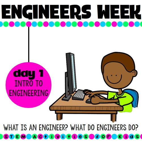 National engineers week activities and ideas! What is an engineer? What do engineers do? Should I become an engineer? | STEM Activities for Kids