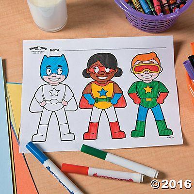 Superhero Free Printable Coloring Page Idea