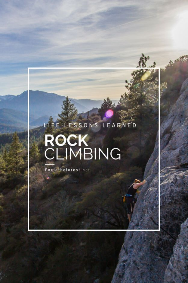 Life lessons from rock climbing