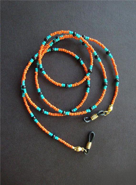 Handmade Turquoise Stone Eyeglass Chain//Lanyard W//Swarovski Elements USA