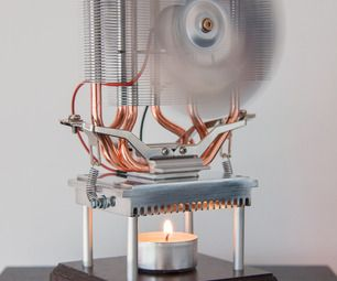 Thermoelectric Fan Powered By A Candle Engine And