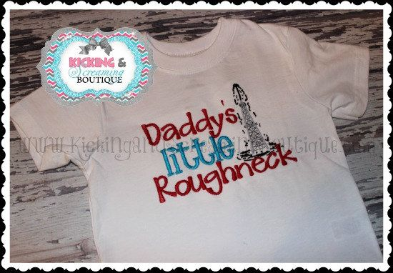 Hey, I found this really awesome Etsy listing at http://www.etsy.com/listing/151588192/daddys-little-roughneck-embroidered
