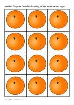 Handa's Surprise fruit survey pictogram squares (SB8727) - SparkleBox