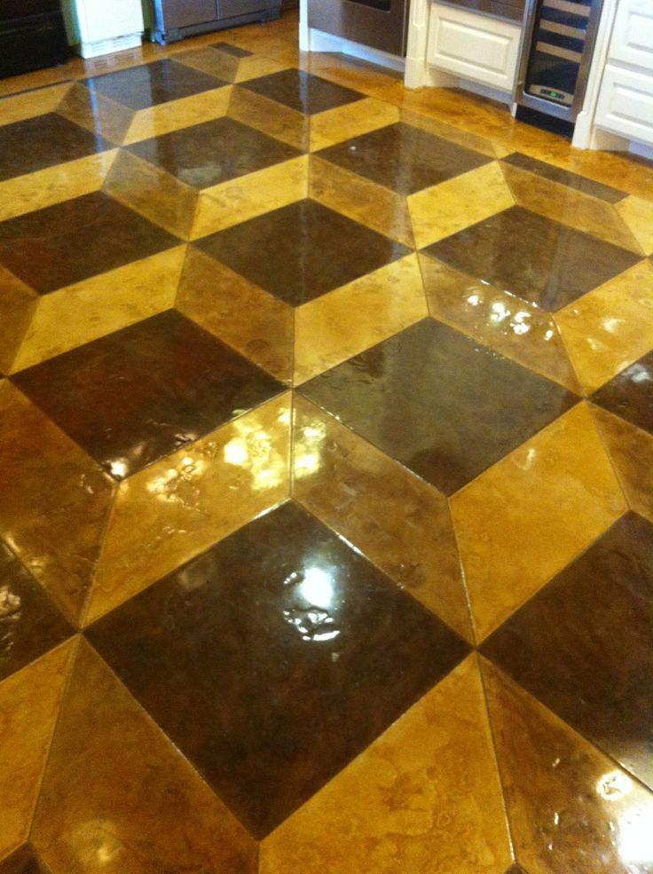 11 best floors images on pinterest cement floors for Stained polished concrete floor