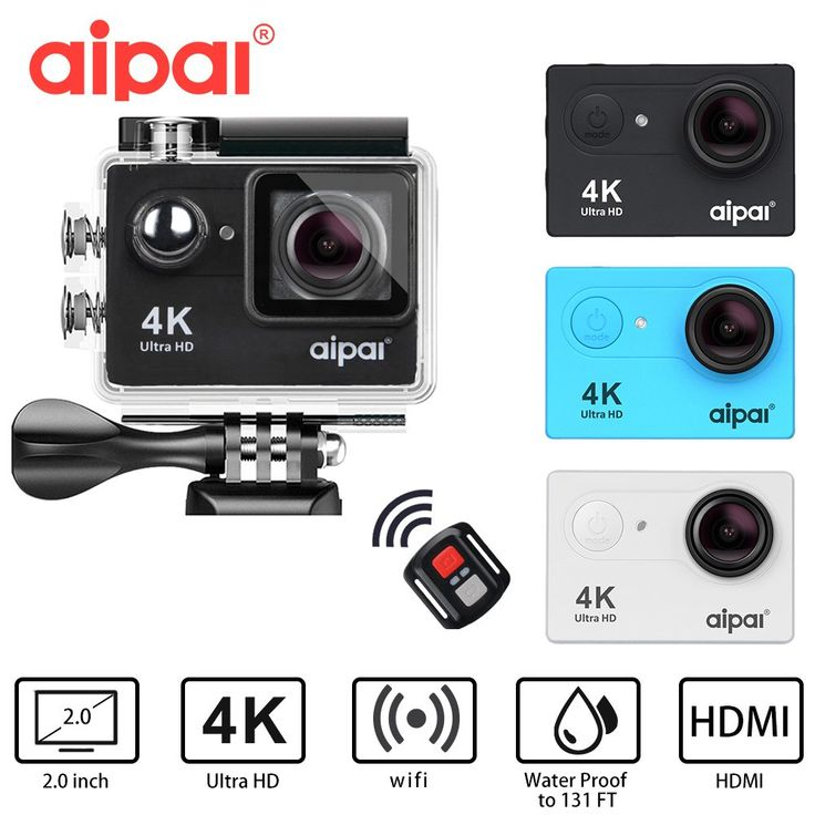 Aipal H9/H9R Action Camera Ultra HD 4K/30fps Sport Camera 1080P/60fps WiFi 2.0LCD 40m Waterproof mini camera sports DV //Price: $42.61//     #shopping