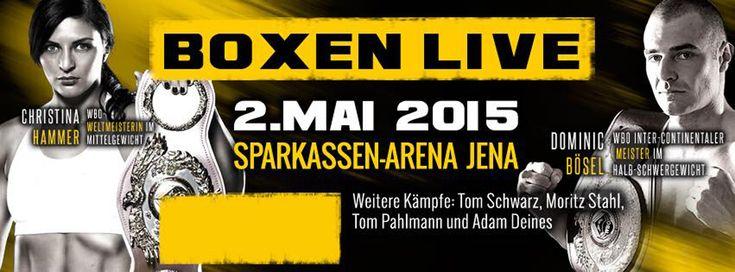 """Nach dem großartigen Erfolg mit der SES-Jubiläums-Box-Gala wird die nächste Veranstaltung von SES Boxing in seinem Jubiläumsjahr 2015 nun schon am 2. Mai 2015 in der """"Lichtstadt"""" Jena stattfinden."""