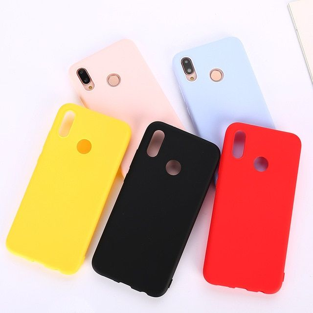 Matte Candy Color Silicone Tpu Case For Huawei P Smart Y9 Y6 2019 P20 P30 Pro P10 Mate 20 Lite Honor 7x 8x 8c 9 10 N Iphone Organization Phone Cases Cool Cases