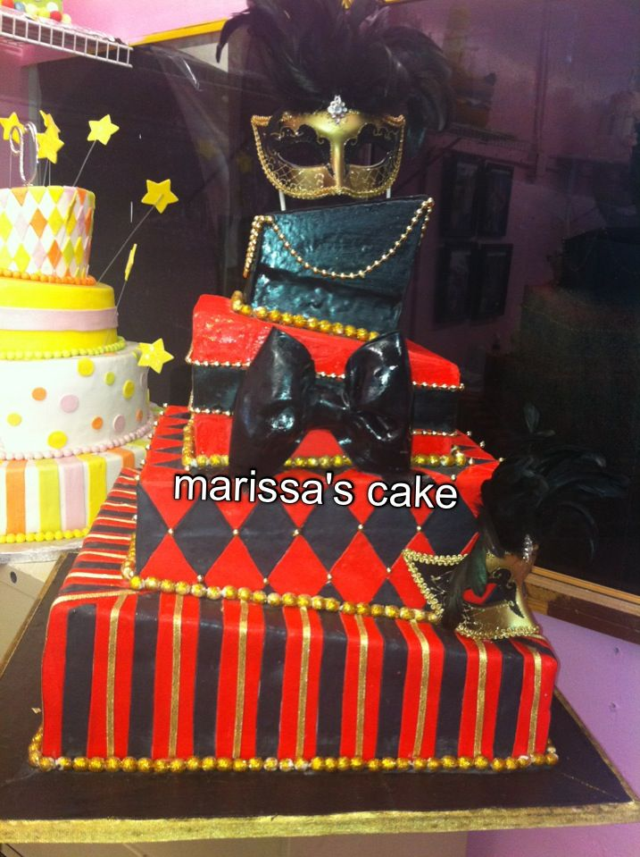 masquerade cakes for quinceaneras