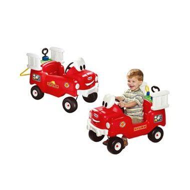 Little Tikes Brandweer Truck met spuit  Als het brandalarm gaat dan ga je snel op weg. Kleine brandweermannen willen in deze prachtige Little Tikes truck rijden! Met echt werkende watertank spuit!  EUR 54.99  Meer informatie