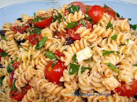 The Naked Zebra: Tomato Feta Pasta Salad- Ina Garten