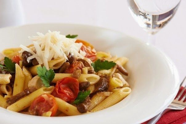 Pasta With Chicken And Mushrooms Recipe ~ Food Network Recipes #chicken #recipes #food #mushrooms