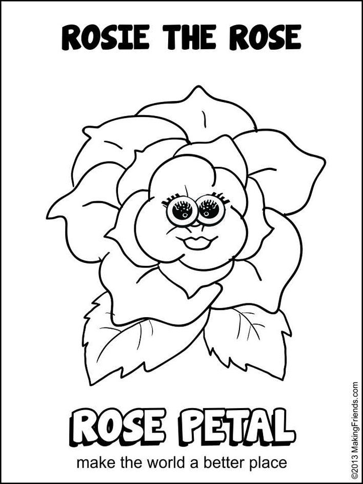 daisy girl scout rose petal coloring sheet