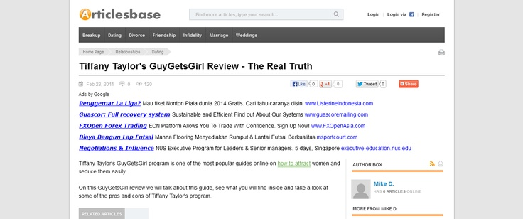 Tiffany Taylors GuyGetsGirl Review - The Real Truth --> www.articlesbase.com/dating-articles/tiffany-taylors-guygetsgirl-review-the-real-truth-4295227.html