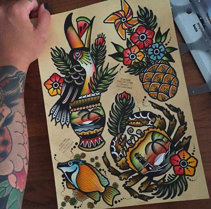 25  Best Ideas About Tropical Tattoo On Pinterest
