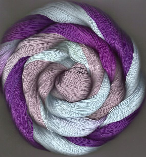 175 yards Hand-dyed Size 10 Cotton Crochet Thread Busk Colorway