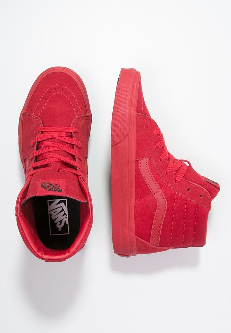 Vans SK8-HI - High-top trainers - true red/black - Zalando.co.uk