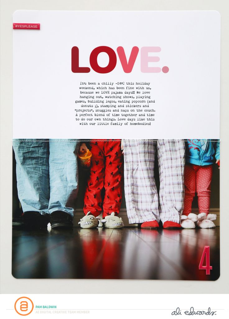 Ali Edwards | Blog: AE Digital Creative Team | February Inspiration by Pam Baldwin