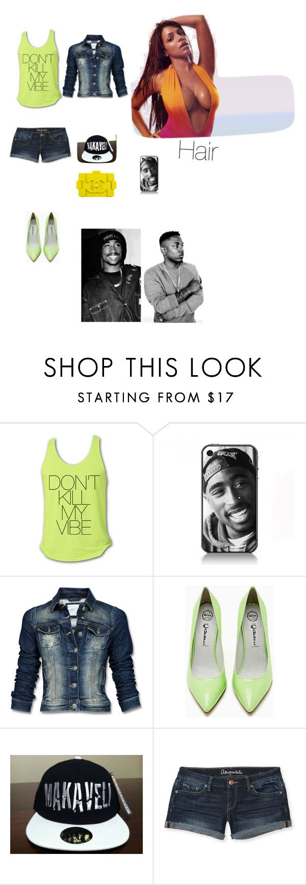 """""""Lime Vibe (Vida Guerra)"""" by mafedia ❤ liked on Polyvore featuring Mexx, Jeffrey Campbell, Chanel and Aéropostale"""